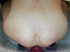 big dildo and anal plug in my ass