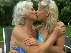 Grandma has an intercourse young and fresh blonde