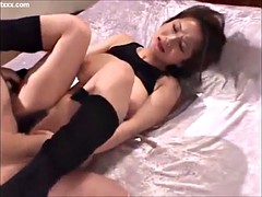 busty japanese gets a good dick workout