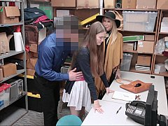 Coulisses, 2 femmes 1 homme, Groupe, Bureau, Punition, Volé, Plan cul à trois