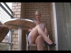beautiful  aged mom i`d like to fuck in tight dress and pantyhose strips
