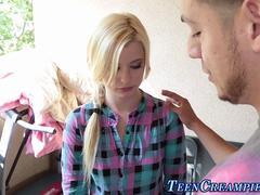 teen gets cunt cum filled clip