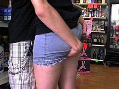 Put your hands under her skirt!