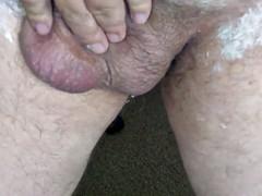 shaving uncut cock
