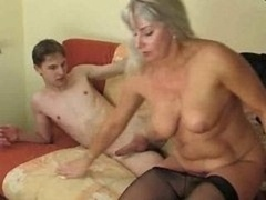 Young and fresh lad adoring a horny more aged lady