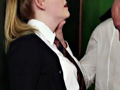 Facialized british schoolgirl sucking cocks