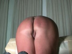 Cane and wax for slutty fat Ass