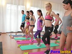 Fitness class for lesbians