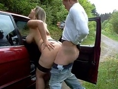 big titted floozy outdoor fuck