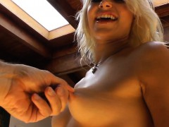 Busty babes tits groped