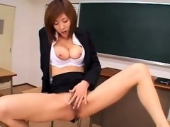 Pink haired Asian hairy pussy masturbation