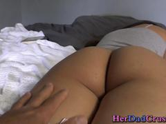 Teen creampied by stepdad