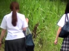 Japanese students peeing