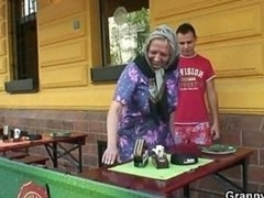 Big titties granny fucked hard by young and fresh