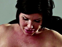 Busty lezdom pussylicked by younger amateur
