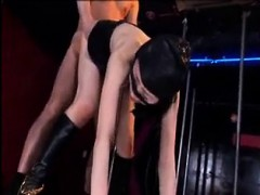 Asian sex slave is tied up so he can bang her and toy her a