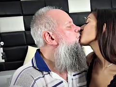 Young Busty Teen Takes Facial Cumshot From Grandpa Old Young