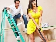 Big breast brunette Sexually available mom porn pro big tush Lisa Ann gets her breasts pai