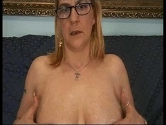 Glasses are sexy aged mother gives son a lesson bang backdoor