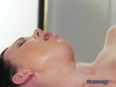 Massage Rooms Young natural tits lesbians have intense juicy orgasms