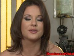 Submissive slave pissed on and humiliated