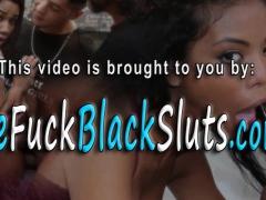Ebony slut takes cocks