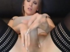 Beautiful Trans Chick Plays Her Hard Cock