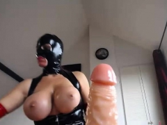 Fetish Wife Masturbation In Latex