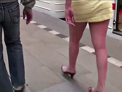 Subway PUBLIC gangbang orgy threesome on girl with big tits