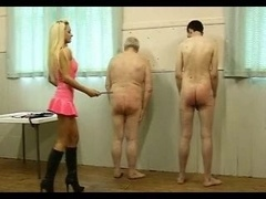 Hot Dom in Pink Latex Works Over Her A duo Slaves