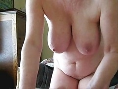 Mature Dame Jerking My Purple pole