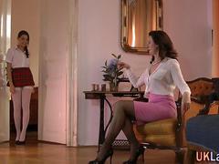 Lesbiana, Masturbación, Maduro, Adolescente, Uniforme