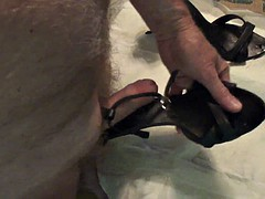 black strappy sandals fucked again