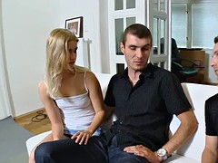 Guy jerks staring at sex