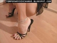 Feminization of male body and besides feet in a temporary sexchange