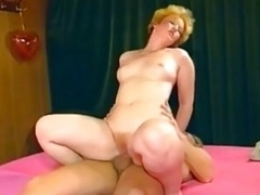 Blonde Eager mom Pinky Love hole