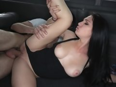 Girl is getting her wet pussy fingered in the back of a car