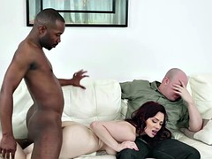 Cock depraved Jessica cuckolds her husband with a BBC