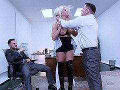 Blonde, Domination, Hard, Humiliation, Punition, Rugueux, Secrétaire