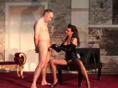 Hot German dominatrix with a hot body adores punishing her