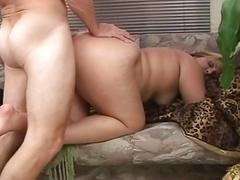 Fleshy babe fucked and besides facialized