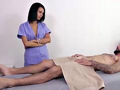 Naked guy gets punished