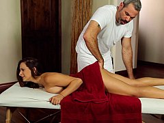 Her first time on a massage table