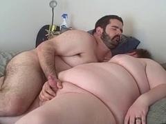 Curvy bear gets down and dirty his smooth chub boyfriend