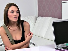 Hot Brunette Has A Casting