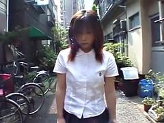 Asiatique, Insertion, Japonaise, De plein air, Public, Adolescente