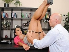 Big Breast BRUNETTE Adult video star Gets down and dirty BOSS'S Big Flag pole DOGGY IN OFFICE
