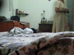 Indian aunty change from Salwar to Peticoat exposing absolutely all