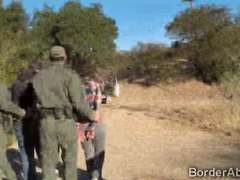 Border officers team up to fuck a Latina immigrant teen