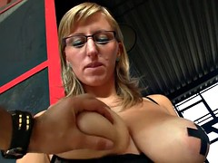 shelby moon boobs fun in factory